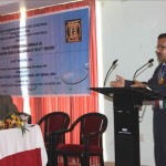 Dr. S. Ahmed giving welcome address at the seminar.