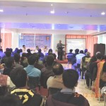 Dr. Arunabha Majumder, Emeritus Fellow, School of Water Resource Engineering, Jadavpur University delivering his lecture.