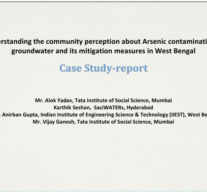 Understanding the community perception about Arsenic contamination in groundwater and its mitigation measures in West Bengal