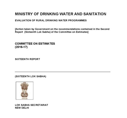 Evaluation of Rural Drinking Water Programmes