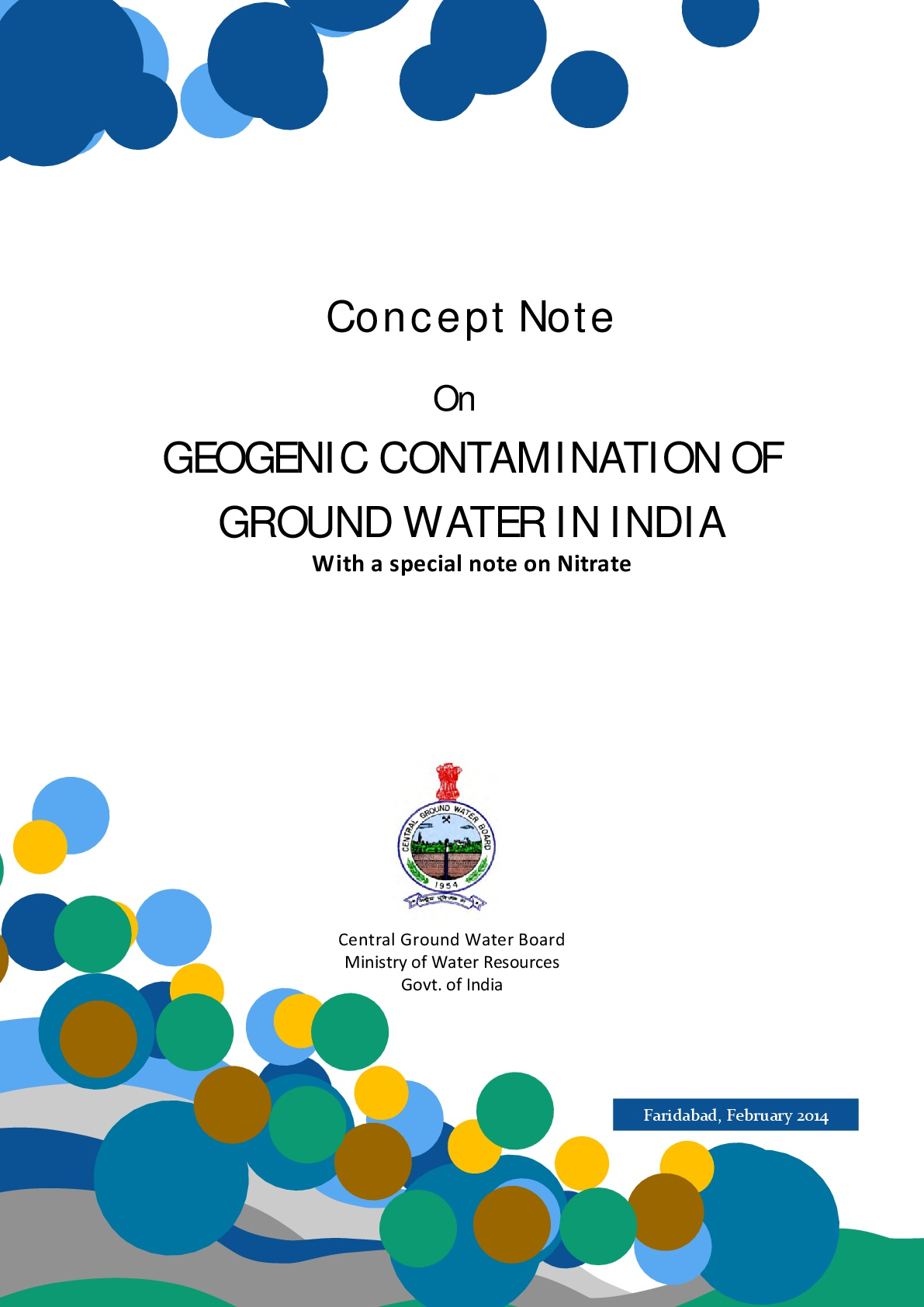 Geogenic Contamination of Groundwater in India